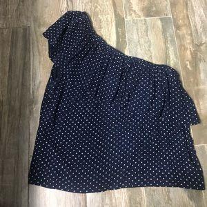 American Eagle sleeveless ruffle shirt